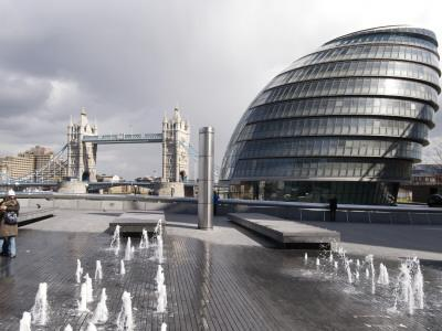 City Hall with Tower Bridge in Background