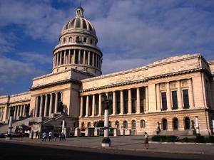 Exterior of El Capitolio Nacional, Havana, Cuba by Rick Gerharter