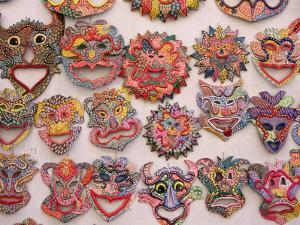 "Traditional Masks or ""Tinajone,"" Camaguey, Cuba by Rick Gerharter"