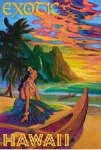 Exotic Hawaii - Hawaiian Hula Girl by Rick Sharp