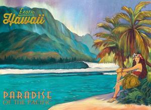 Exotic Hawaii - Paradise of the Pacific - Hawaiian Hula Dancer by Rick Sharp
