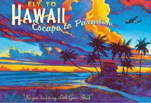 Fly to Hawaii - Escape to Paradise - I'm Going Back to my Little Grass Shack by Rick Sharp