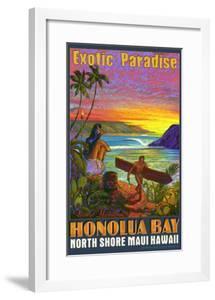 Hawaii, Honolua Bay, Maui by Rick Sharp