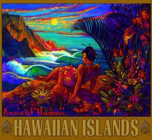 Hawaii Napali Kauai Coast Surf Poster by Rick Sharp