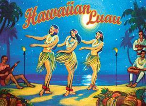 Hawaiian Luau - Hawaii Hula Dancers by Rick Sharp