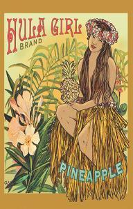 Hula Girl Brand Pineapple - Hawaii Hula Dancer by Rick Sharp