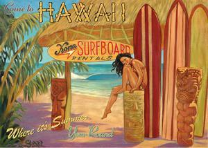 Kona Surfboards - Come to Hawaii - Where It's Summer Year Round by Rick Sharp