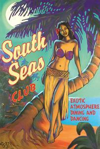 South Seas Club - Hawaii Hula Dancer - Exotic Atmosphere Dining and Dancing by Rick Sharp