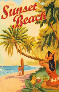 Sunset Beach Hawaii - Oahu North Shore - Surfer by Rick Sharp