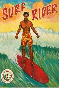 Surf Rider - Hawaii Surfer by Rick Sharp