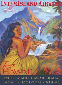 Touring Hawaii - InterIsland Airways - Hawaiian Hula Girl - Oahu, Maui, Kauai by Rick Sharp