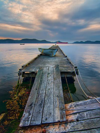 Rickety Island Dock on Saturna Island in British Columbia Canada.-James Wheeler-Photographic Print