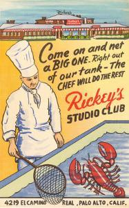 Rickey's Studio Club, Lobster, Palo Alto, California