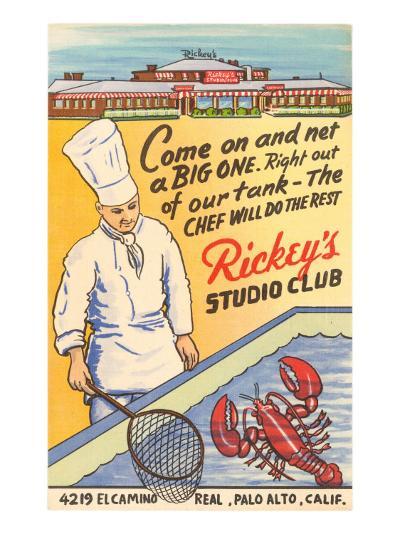 Rickey's Studio Club, Lobster, Palo Alto, California--Art Print