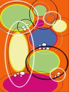 4 of 6 Abstract Art Retro Funk by Ricki Mountain