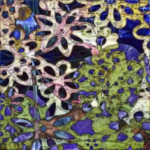Bejeweled Woodblock III by Ricki Mountain