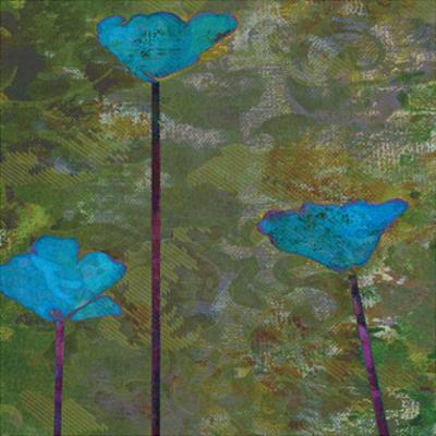 Teal Poppies II by Ricki Mountain