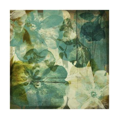 Vintage Teal Blooms II