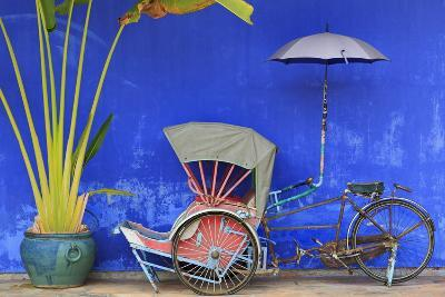 Rickshaw in Cheong Fatt Tze Mansion, Georgetown, Penang Island, Malaysia, Southeast Asia, Asia-Richard Cummins-Photographic Print