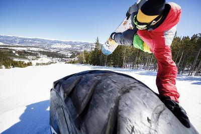 Ricky Bates Riding The Park At Breckenridge Mountain, Colorado, March 2014-Louis Arevalo-Photographic Print