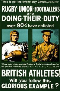 British Athletes! Will You Follow This Glorious Example? by Riddle & Co Johnson