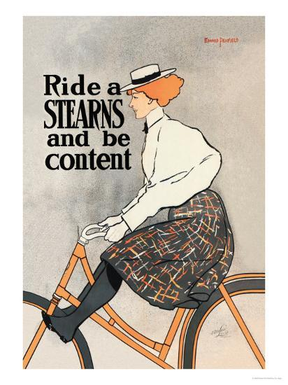 Ride a Stearns and Be Content-Edward Penfield-Art Print