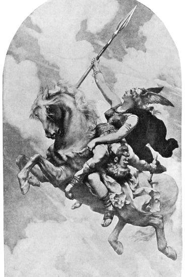 Ride of the Valkyries- Delitz-Giclee Print