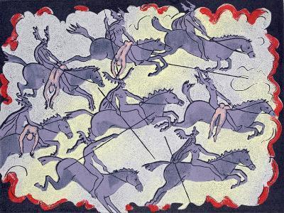 "Ride of Valkyries, Wotan's Warrior Daughters; ""Hoyotoho!"": Illustration for 'Die Walkure'-Phil Redford-Giclee Print"