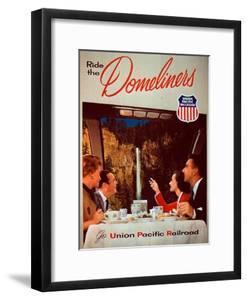 Ride the Domeliners - Union Pacific Railroad AD, 1950s