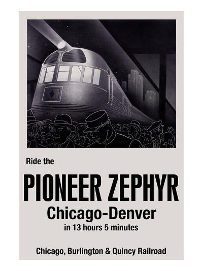 Ride the Pioneer Zephyr-Paris Pierce-Art Print