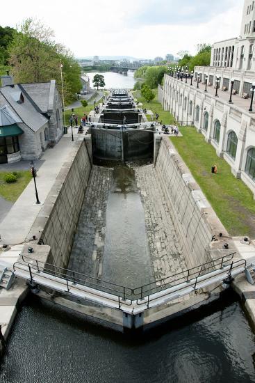 Rideau Canal Locks - Ottawa- adwo-Photographic Print