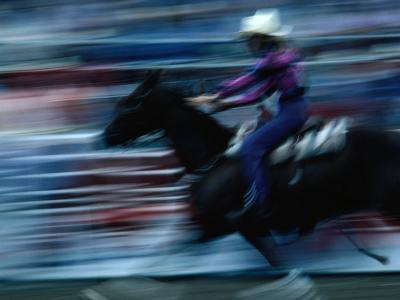 Rider in Rodeo at the Calgary Stampede, Calgary, Canada-Rick Rudnicki-Photographic Print