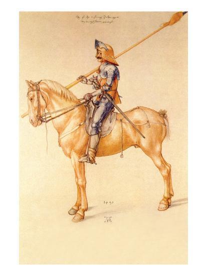 Rider in the Armor-Albrecht D?rer-Art Print