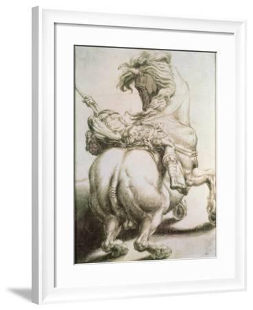 Rider Pierced by a Spear, 16th Century-Francesco Salviati-Framed Giclee Print