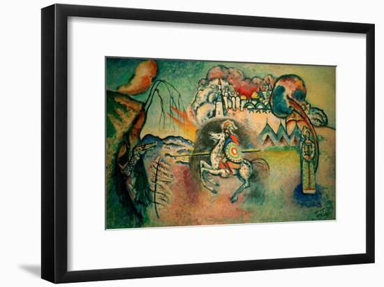 Rider, St George, 1915-Wassily Kandinsky-Framed Giclee Print