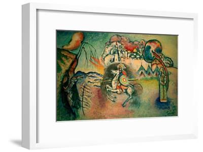 Rider, St George, 1915-Wassily Kandinsky-Framed Giclee Print