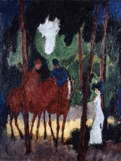 Riders in the Wood of Boulogne,' C1904--Giclee Print