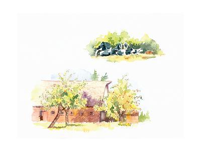 Ridgefield Barn II-Gwendolyn Babbitt-Art Print