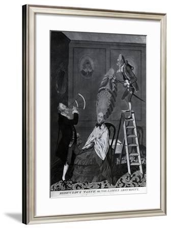 Ridiculous Taste, or the Ladies Absurdity, C.1776-Matthew or Matthias Darly-Framed Giclee Print