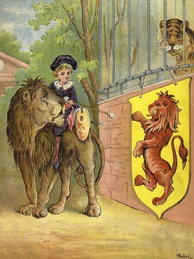 Riding a Lion-Richard Andre-Giclee Print
