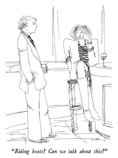 """Riding boots?  Can we talk about this?"" - New Yorker Cartoon-Richard Cline-Premium Giclee Print"