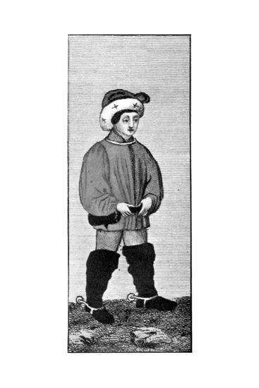 Riding Habit, 15th Century--Giclee Print