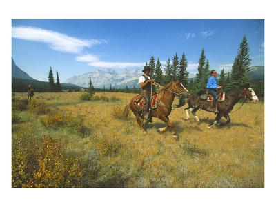 Riding in Banff National Park, Alberta, Canada--Art Print