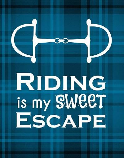 Riding is My Sweet Escape - Blue-Sports Mania-Art Print