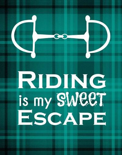 Riding is My Sweet Escape - Green-Sports Mania-Art Print