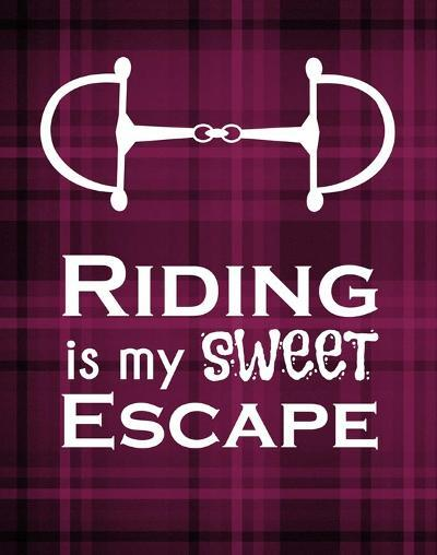 Riding is My Sweet Escape - Red-Sports Mania-Art Print