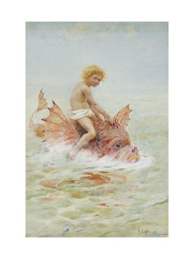 Riding Sea Monsters-Hector Caffieri-Giclee Print