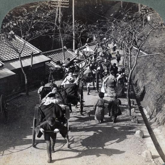 Riding to Daijingu Temple, for Shinto Festival of Worship of the Sun Goddess, Yokohama, Japan, 1904-Underwood & Underwood-Photographic Print