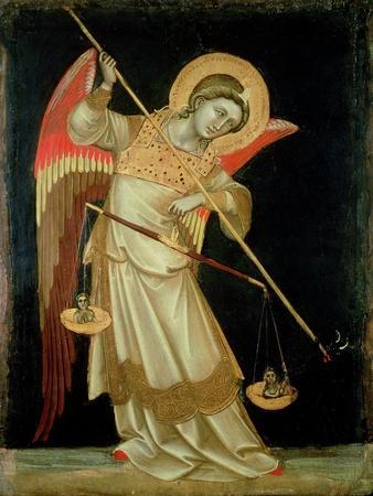 An Angel Weighing a Soul, circa 1348-55