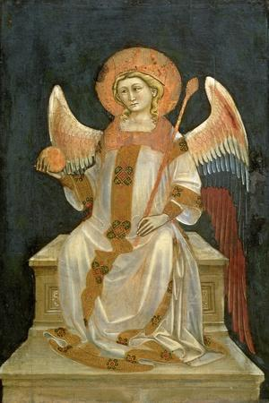 Angel Seated on a Throne, the Orb in One Hand, the Sceptre in the Other, C.1348-54